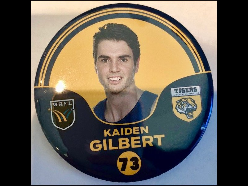 Kaiden Gilbert Player Badge Number 73