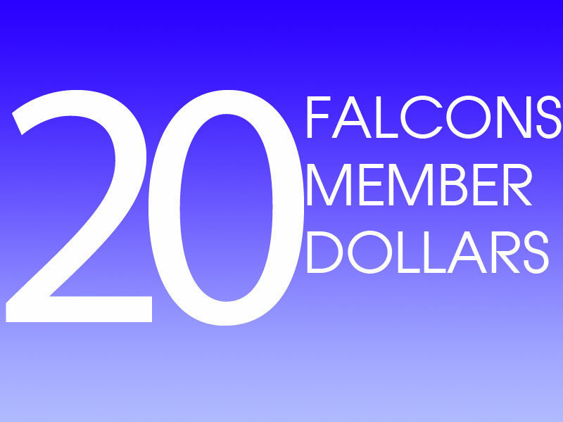 20 Falcons Member Dollars