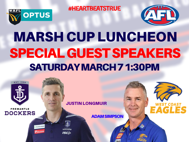 Marsh Cup Function hosted by West Perth Football Club