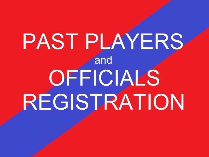 Past Player and Officials Registration
