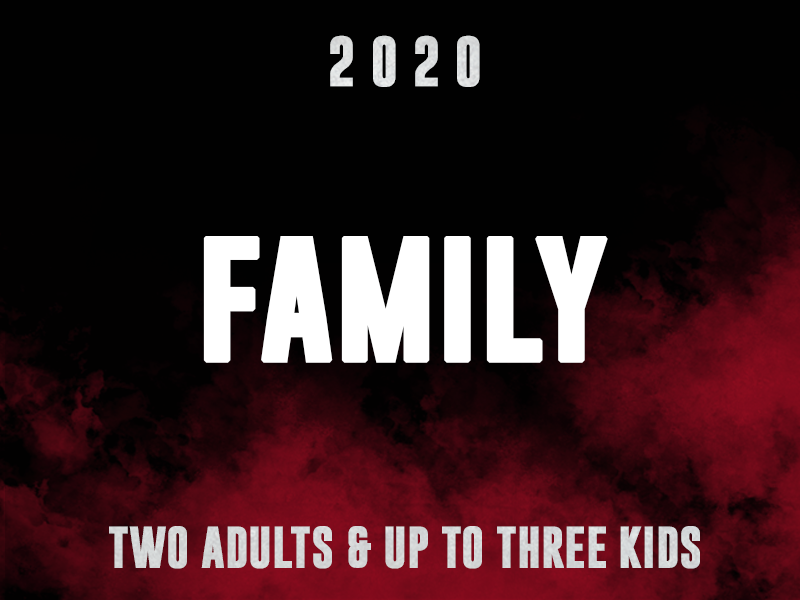 Family - 2 Adults and up to 3 Kids