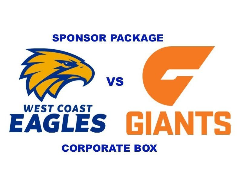 EAGLES v GIANTS - Sponsor Package - CORPORATE BOX
