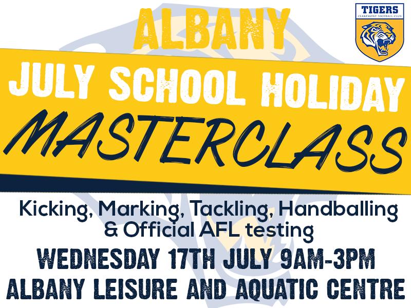 ALBANY July School Holiday Masterclass