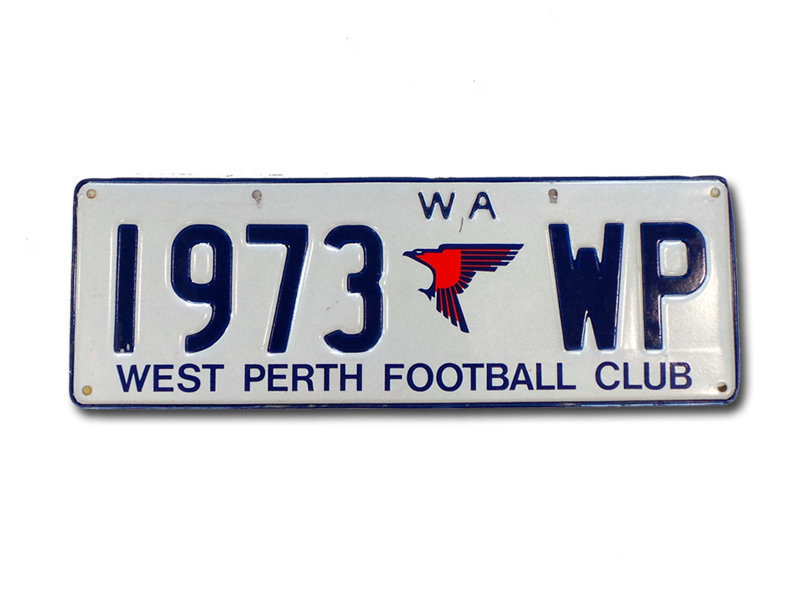 Licence Plates - West Perth Football Club