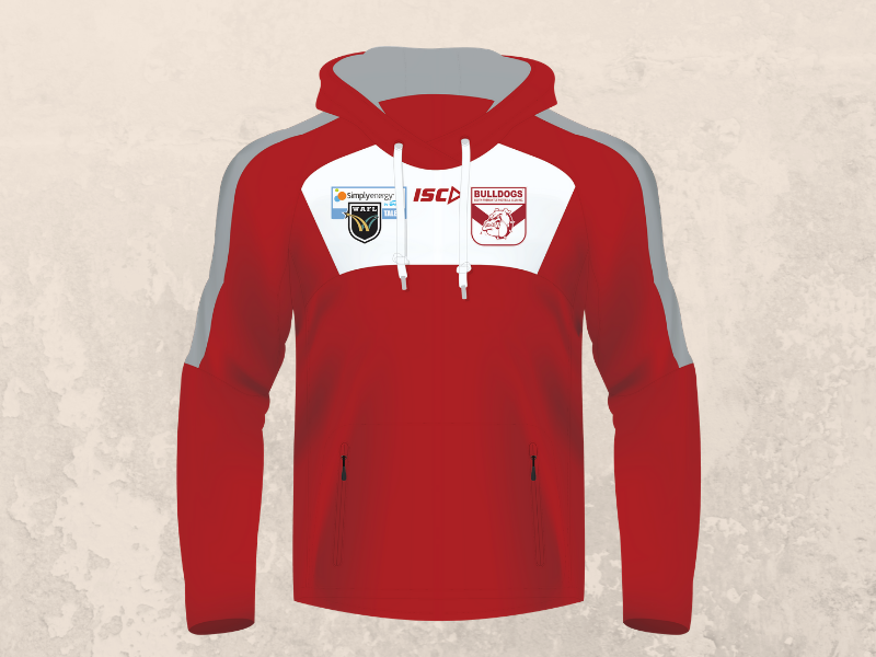 Red and White Hoodie - Talent