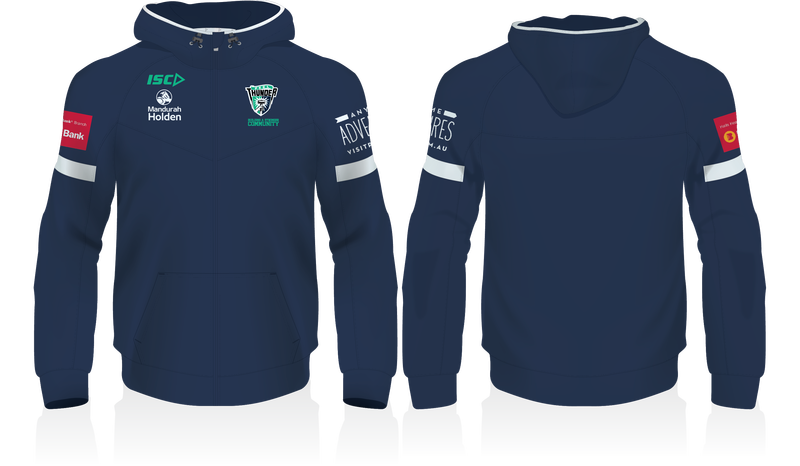 Peel Thunder Zip up Hoodie with Sponsors logos