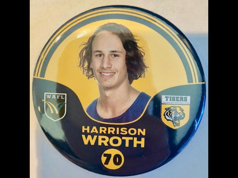 Harrison Wroth Player Badge Number 70