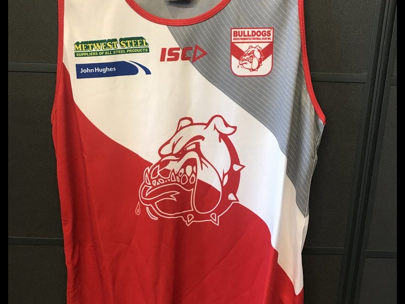 Red White and Grey Training Singlet