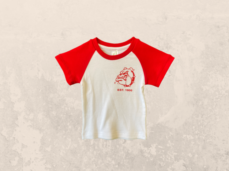 Baby Red and White Tee