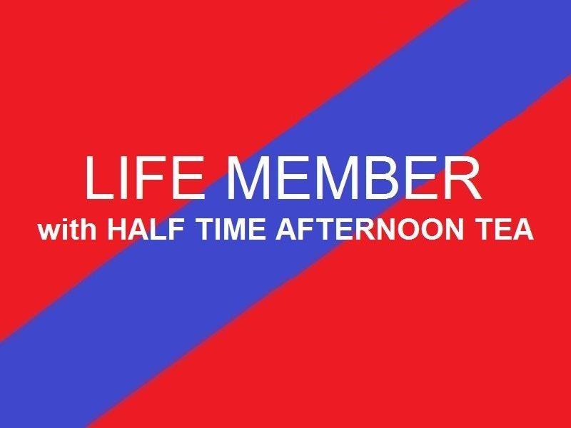 Life Member  Half time afternoon tea
