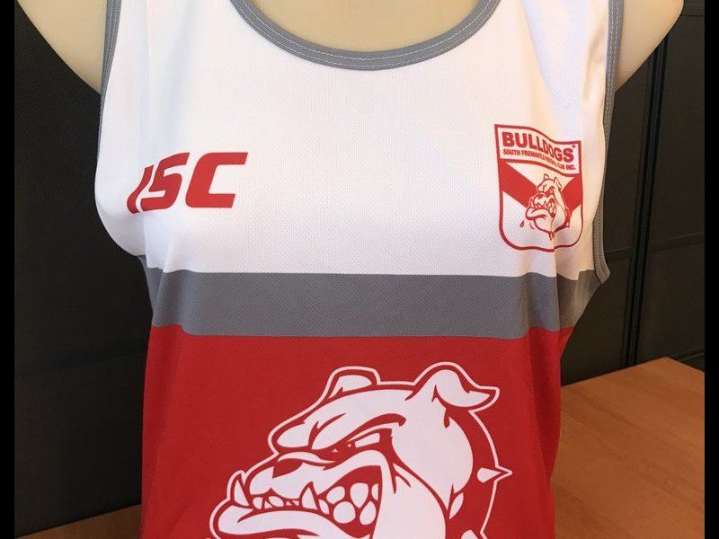 Red and White Training Singlet