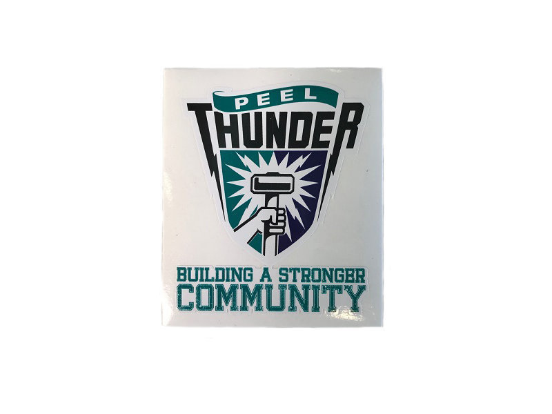 Peel Thunder Shield Sticker