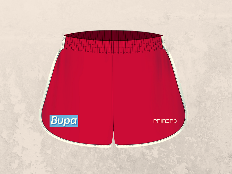 Red Womens Training Shorts