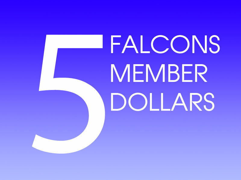 5 Falcons Member Dollars
