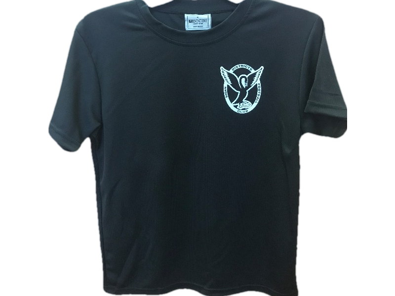 Kids Black Micromesh Tee