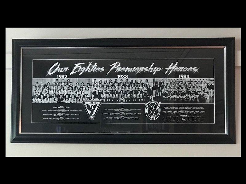 Framed 80s Premiership Poster