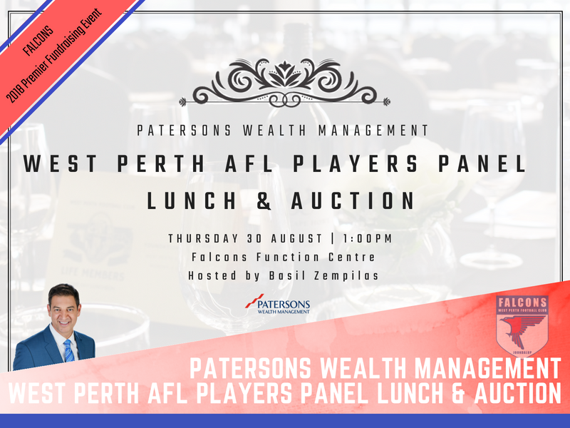 Patersons Wealth Management West Perth AFL Players Panel Lunch and Auction